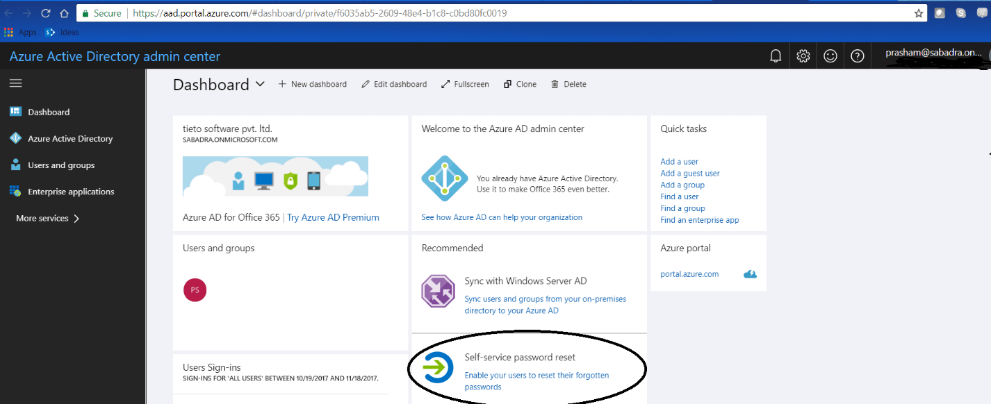 Figure 10 - Azure Active Directory admin center