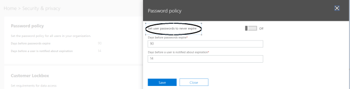 Figure 3 -Editing Password Policies