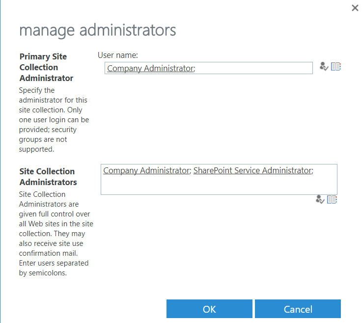 fig5 - manage administrators dialog