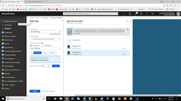 Create New Web App In Azure_2