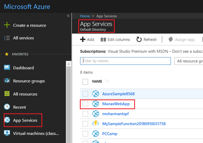 Create New Web App In Azure_3