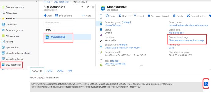 Azure - Configure Connection string for the function