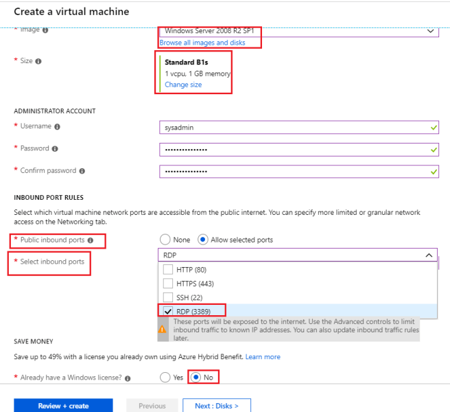 Azure - Created new Azure vertual machine - 2