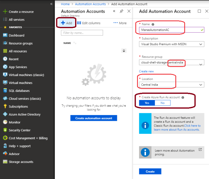 Automation Account