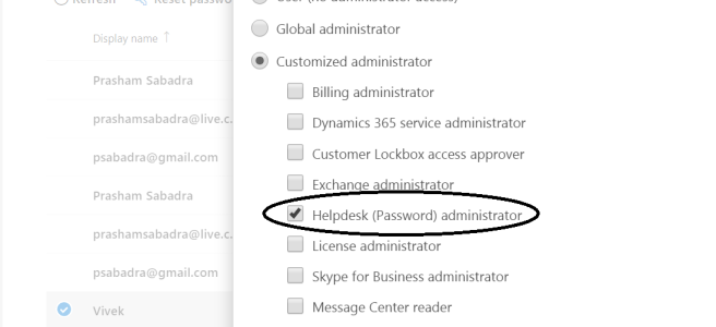 """Office 365 - Admin Center - Manage User Roles - """"Password admin"""" name is changed with """"Helpdesk admin"""""""