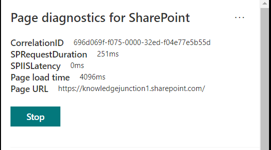M365 - SharePoint Online - Performance Diagnostics Tool