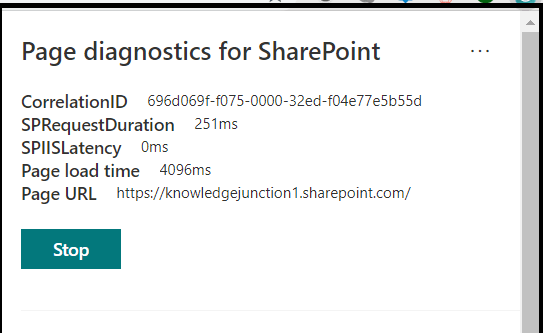 M365 - SharePoint Online - Page diagnostics Tool - Identifying Page load time, SPRequestDuration time