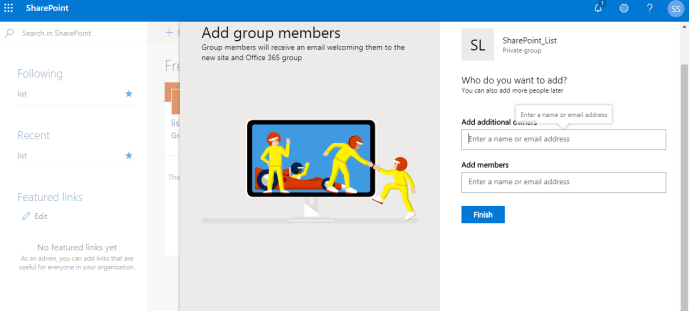 Power Platform - SharePoint - Add group members Page