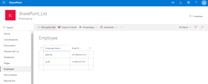 Power Platform - SharePoint - Add List Items