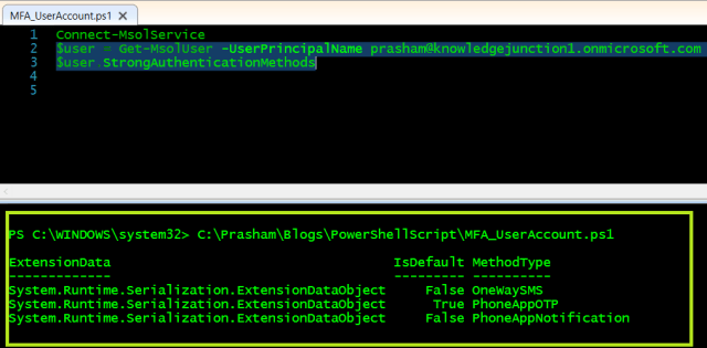 Azure - PowerShell cmdlet getting default authentication methods