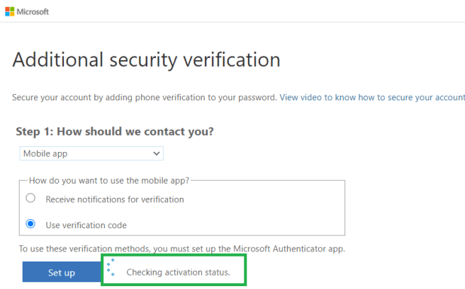 "M365 - Azure Active Directory admin center - ""Additional security verification"" page - https://account.activedirectory.windowsazure.com/proofup.aspx?culture=en"