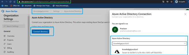 Azure DevOps - Starting with Azure DevOps - Organization Settings - Azure Active Directory