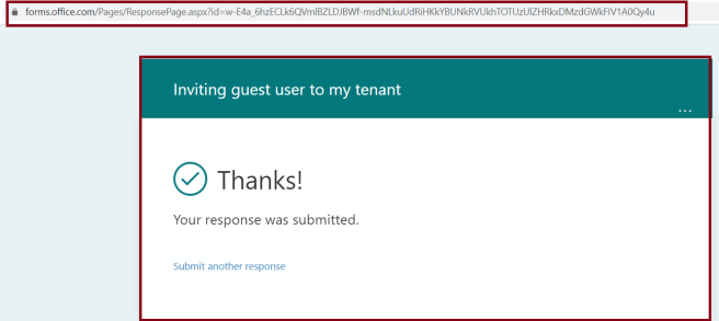 M365 - Microsoft Forms - Creating Quiz - Response on successfully submission of Form