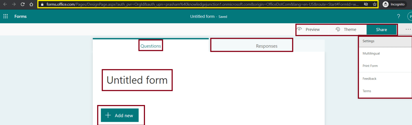 M365 - Microsoft Forms - Creating Quiz