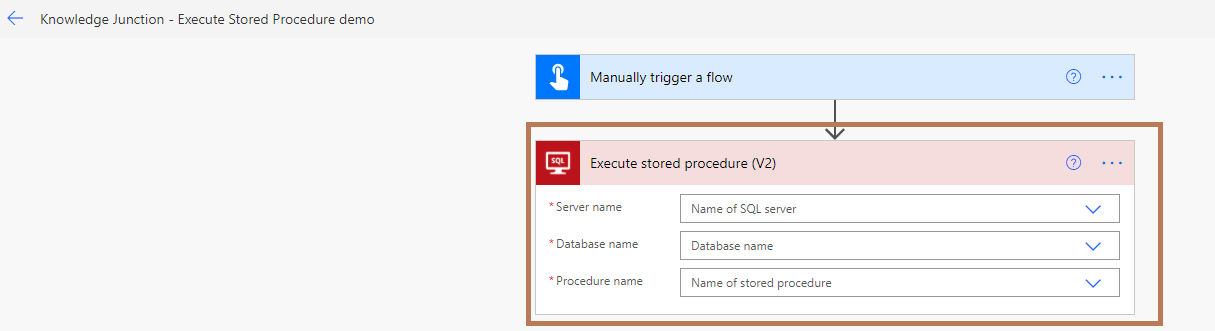 """Power Automate -""""Execute stored procedure (V2)"""" action"""