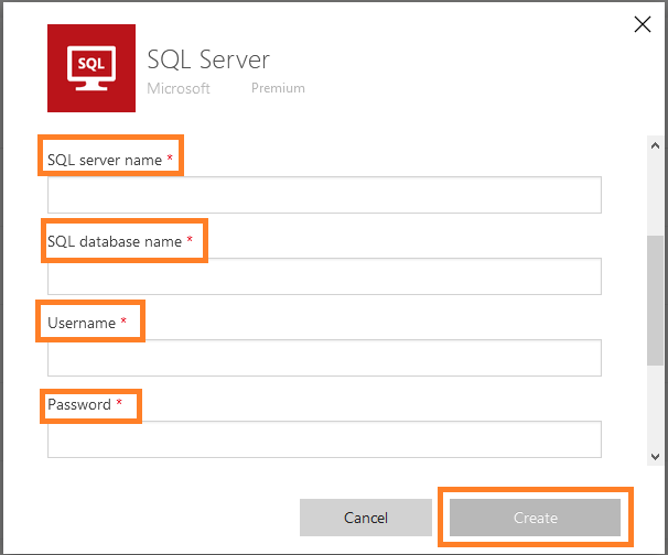 "Power Automate - SQL Server connector - Adding new connection to SQL Server - Selecting ""SQL Server Authentication"" Authentication Type"