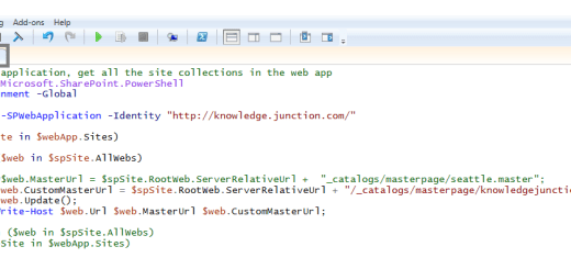 SharePoint On-Premises : PowerShell script to update master page