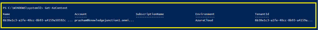 PowerShell Module - Knowing the current subscription