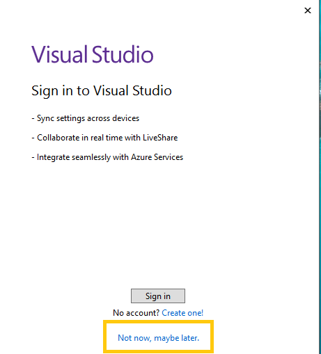Visual Studio 2022 preview - Starting Visual Studio first time