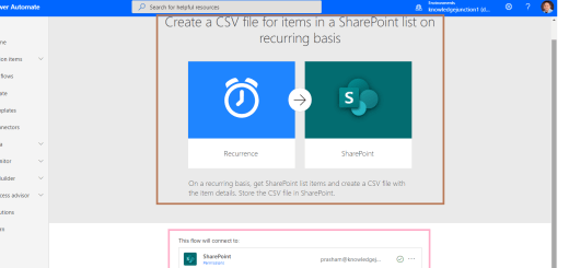 Power Automate - Creating Power Automate from SharePoint connector using trigger - Create a CSV file for items in a SharePoint list on recurring basis