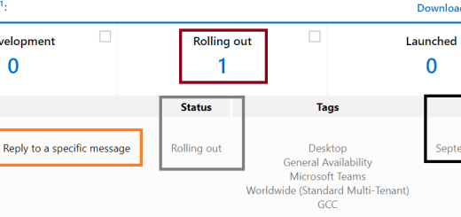 """Microsoft Teams - Teams Desktop - """"Reply"""" feature available for specific messages - Roadmap ID 81113"""