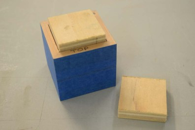 Ply blocks for gluing