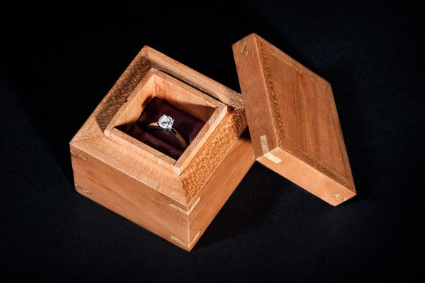 Completed ring box with ring