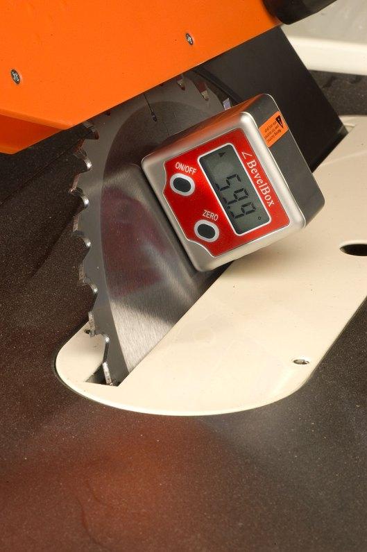 6. The GemRed Digital Angle Gauge helps measure bevel angles