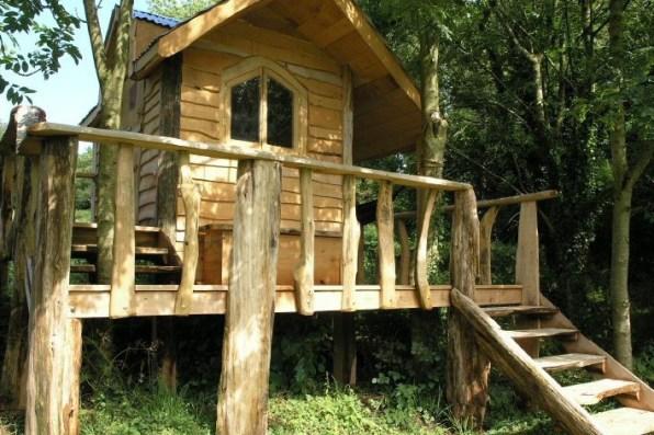 Chestnut tree house in garden
