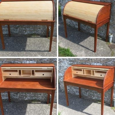 Roll-top desk - hand crafted from solid Mahogany and Maple (Iaroslav B)