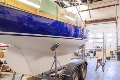 Boat building in progress
