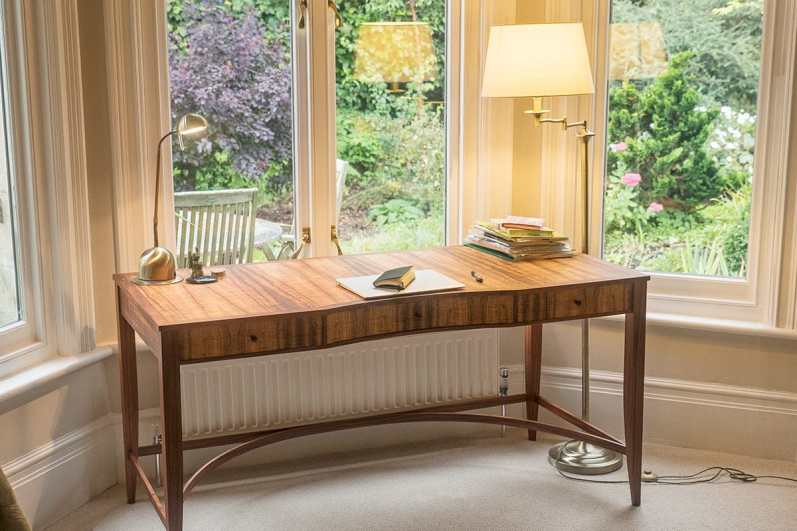 A completed desk set in a writing room
