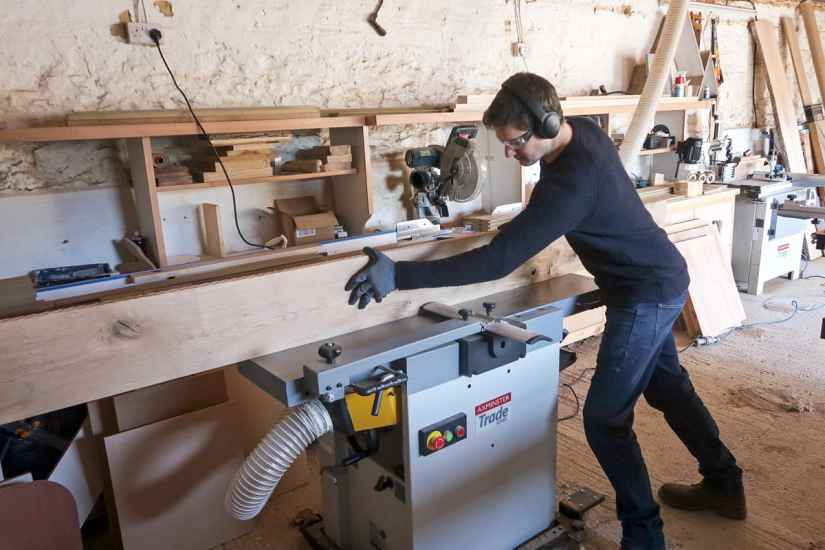 Jamie using machine in planer mode