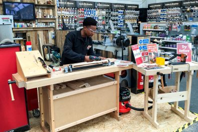 Andre using the UJK Technology Pocket Hole Joinery system