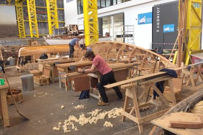 Boat building at IBTC Portsmouth
