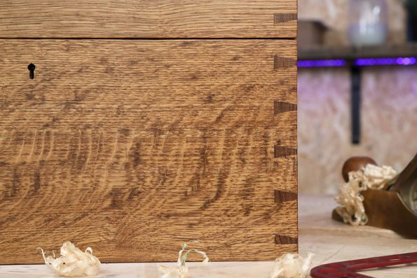 Handmade chest with dovetail joints – come and ask Matt how you can achieve professional looking joints
