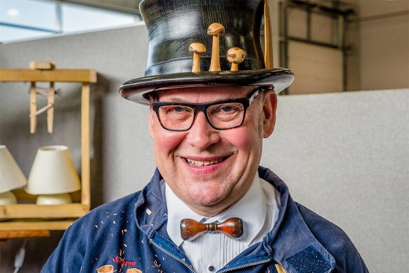 Hat turning with Andrew Hall