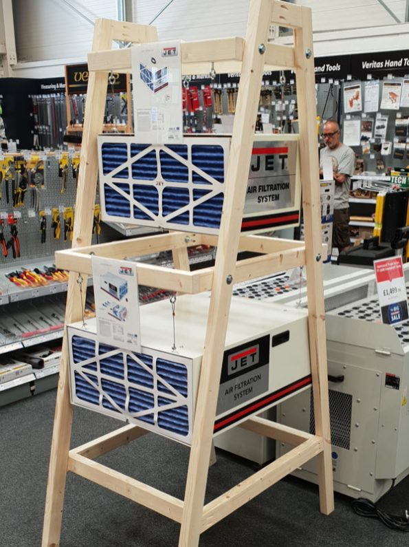 New stand for our Jet air filters