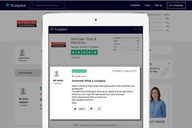 Trustpilot review - Very satisfied customer from Warrington Store