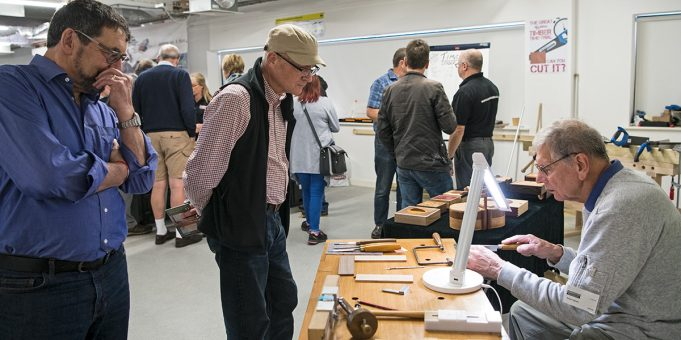 Robert Ingham was discussing the finer points of box and furniture making.