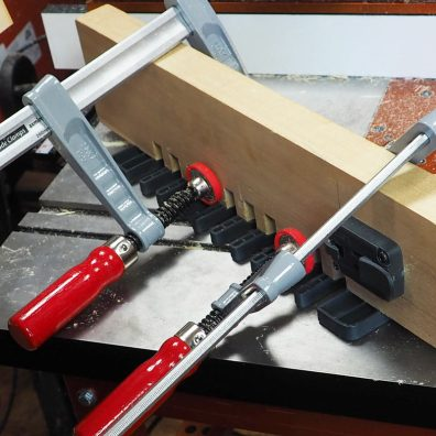 Bee hive clamped using Axminster Trade clamps