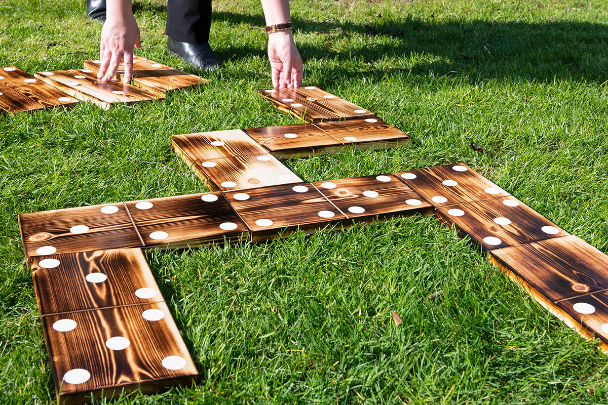 Completed garden dominoes