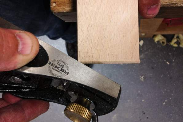 Softening edges with a block plane