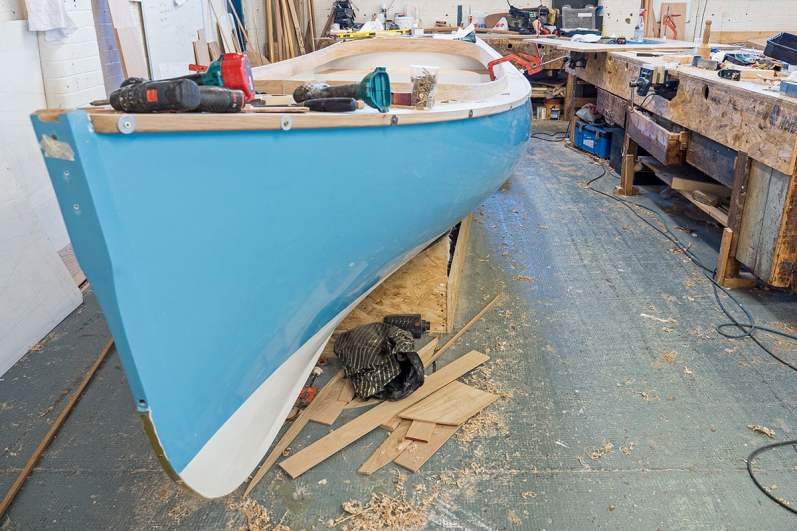 Boat building in progress