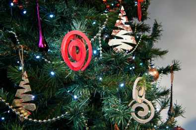 Spiral decoration on tree