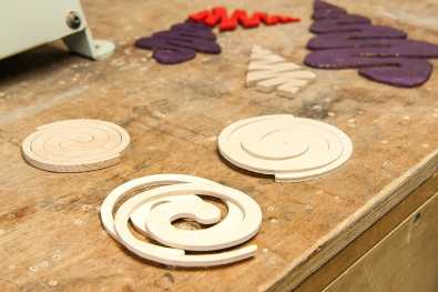Scroll saw spiral Christmas tree decoration