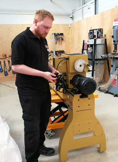 Powermatic now back in stock - Nathan is building the machine ready for demonstrations, just ask in-store for yours