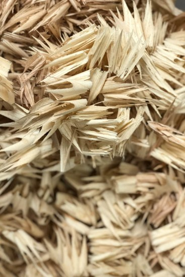 Shavings from dowel cutter
