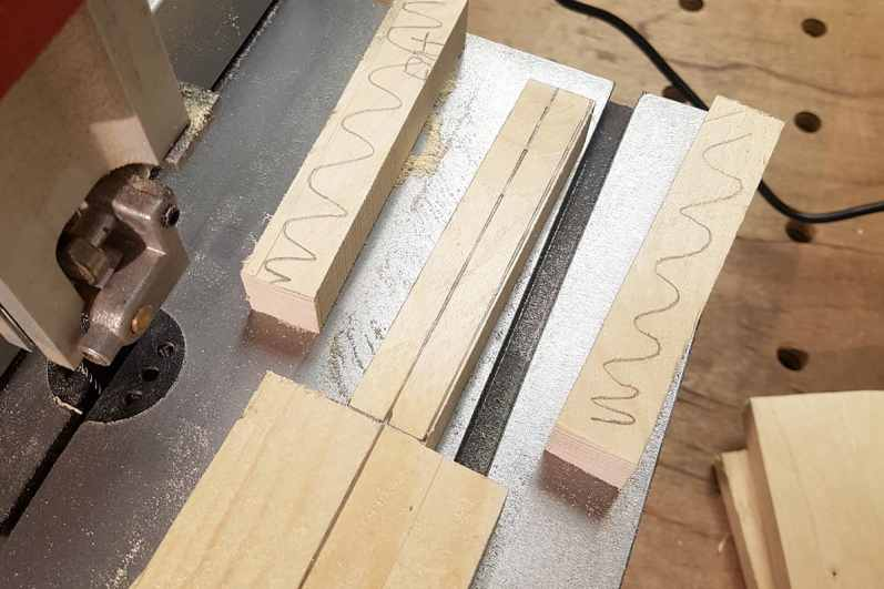 Cutting the rough handle shape