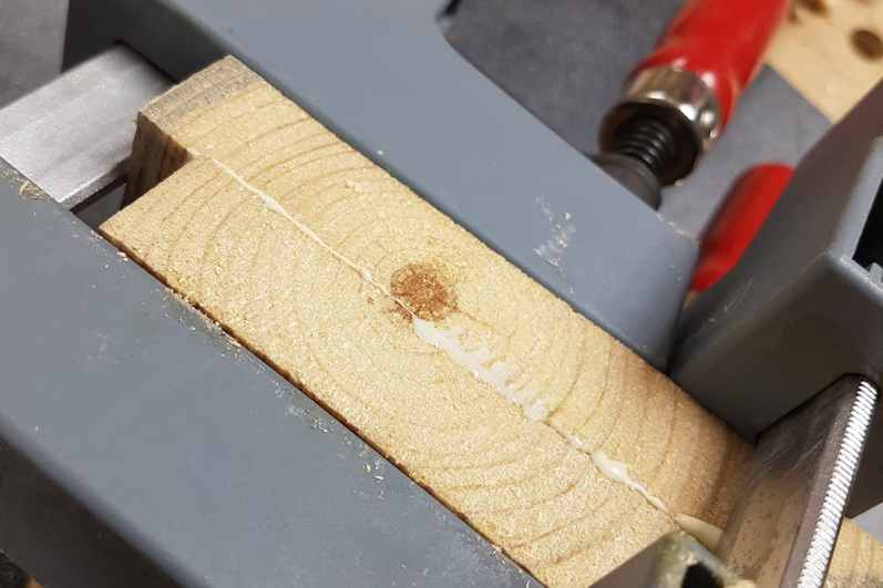 Glue to small pieces of timber for the pommel